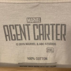 Marvel Shirts - Marvel Agent Carter SSR T-Shirt, 2XL